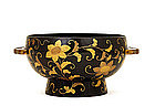 Large Old Japanese Makie Lacquer Bowl