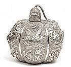 Chinese Export Sterling Silver Opium Light Lighter Lamp