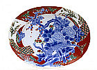 Old Japanese Imari Pheasant Bird Oval Plate Charger