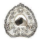 Gorham Sterling Silver Reticulated Heart Shp Dish Bowl