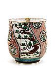 Old Japanese Koyto Ware Mizusashi Water Jar Tea MK