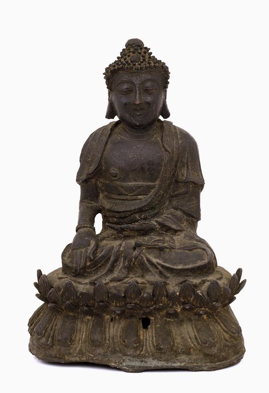 16C Ming Chinese Bronze Seated Buddha