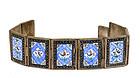 Old Persian Iran Islamic Silver Enamel Bracelet