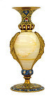 Old French Gilt Cloisonne Vase w Marble