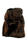 Chinese Wood Carved Louhan Immortal Figurine Figure