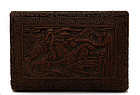 Chinese Export Lacquer Cinnabar Box Landscape