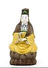 19C Chinese Sancai Porcelain Quan Yin Buddha Figure