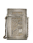 Victorian  Silver Plated Chinoiserie Chain Card Case