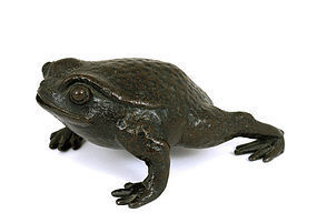 Meiji Japanese Bronze Toad Water Dropper Suiteki