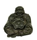 17C Chinese Bronze Happy Buddha Inscription