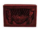 Early 20C Chines Cinnabar Lacquer Box Kid Figurine
