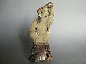 Carved Chinese Soapstone Figure,19th Century or Earlier