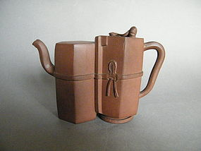 Rare Double-bodied Yixing Teapot, possibly 18th Century