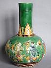 Large  Immortals Bottle Vase  Kangxi Mark  probably 19C