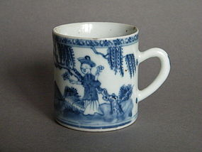 18C Blue & White Export Coffee Can - Yongzheng Qianlong