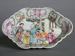 18th Century Famille Rose Export Spoon Tray - Qianlong