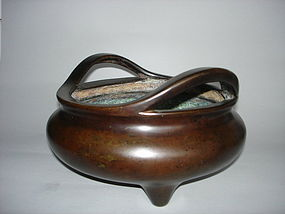 Fine and Large 17th/18th Century Chinese Bronze Censer