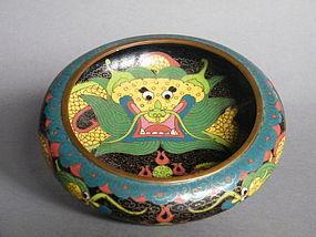 Cloisonne Enamel Dragon Bowl,  Guangxu (1875-1908)