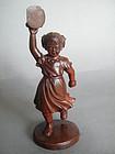 Rare Cultural Revolution Carved Wood Figure c1966-1976