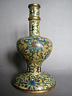 Yellow Ground Cloisonne Alter Vase Qianlong 1736-1795