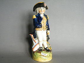 19th Century Staffordshire  Toby Jug - Admiral Nelson