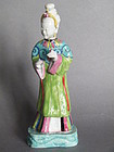 Chinese Export Famille Rose Figure of a Lady c1780-1800