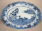 Large 18thC  B/W Export Serving Dish Qianlong 1736-1795