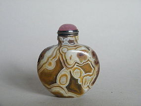 Fine 18th /19th Century Agate Snuff Bottle c 1750-1850