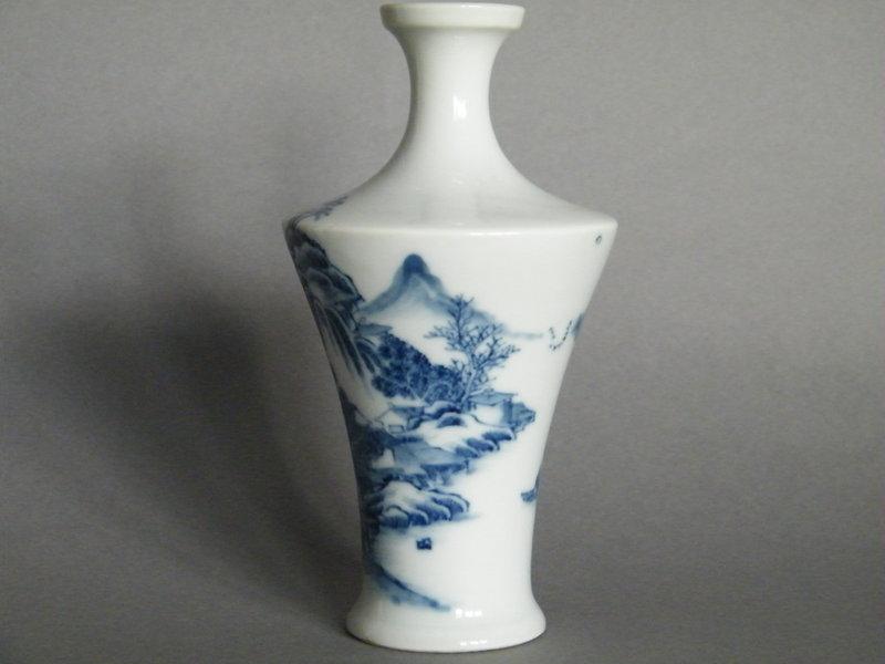 Fine & Rare 18th/19th Century Landscape Vase,c1750-1850