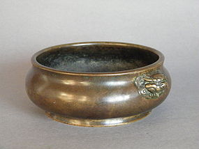 16th/17th Cent Ming Dynasty Bronze Censer Xuande Mark
