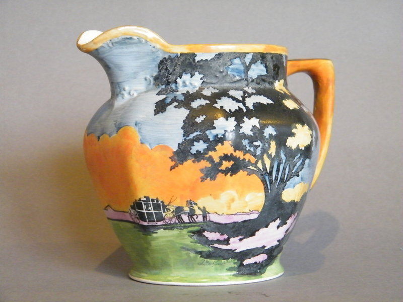 """Hand Painted  Art Deco Jug  Barker Brothers """"The Storm"""