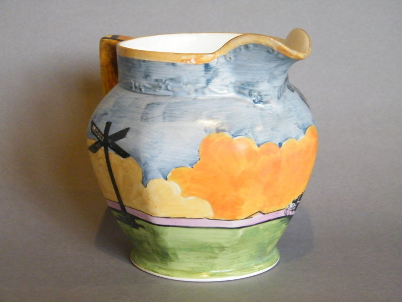 "Hand Painted  Art Deco Jug  Barker Brothers ""The Storm"