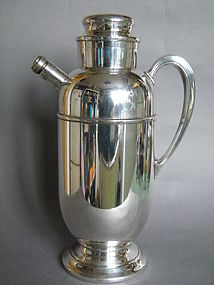 Large 1920s -30s Art Deco Silver Plated Cocktail Shaker