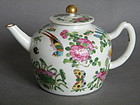 19th Century Famille Rose Enamelled Chinese Teapot