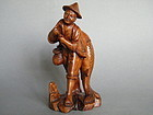 Rare Fisherman Carving Great Leap Forward ? 1958-1961