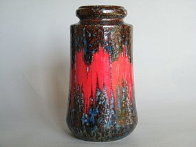 "1970s West German Scheurich Ceramic ""Lava"" Vase"