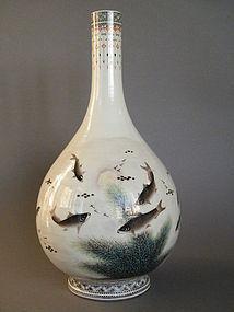 40cm Bottle Vase signed Deng Bishan  Republic 1912-1949