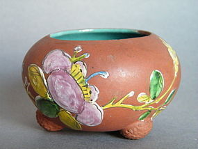 19/20th Century Enamelled Yixing  Water Pot  1875-1908