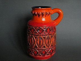 West German Bay Keramik Lava Glaze Ewer - 1960s-1971