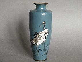 18/19thC Japanese Cloisonne Enamel Vase Meiji 1868-1911