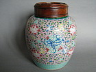 18th/19th Century Famille Rose Jar & Cover c1780-1820