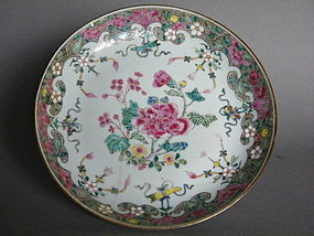 Early 18thC Famille Rose Dish  Yongzheng 1723-1735  A/F