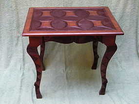West African Carved Hardwood Table - Nigeria c1920-1950