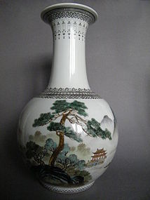 Landscape Vase - Peoples Republic Period  c1950-1975