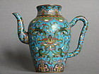 Fine and Rare Early 18th Century Cloisonne Enamel Ewer