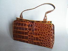 Marshall & Snelgrove Crocodile Skin Handbag c 1940s