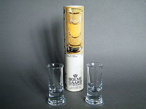 1970s Per Lutken Holmegaard Aquavit No.5 Glasses