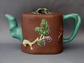 Republic Period  Enamelled Yixing Teapot  1911-1949