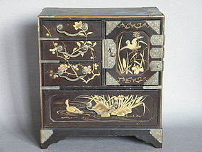 Japanese Lacquer Table Cabinet - Meiji Period 1868-1912