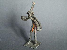 West African Cast Aluminium Masquerade Figure 1920-1960